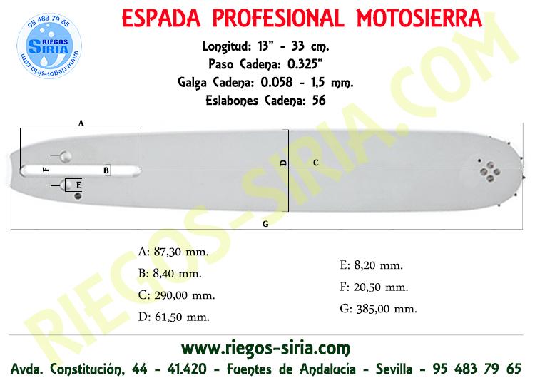 "Espada 33 cm. 0.325"" 0.058"" Alpina"