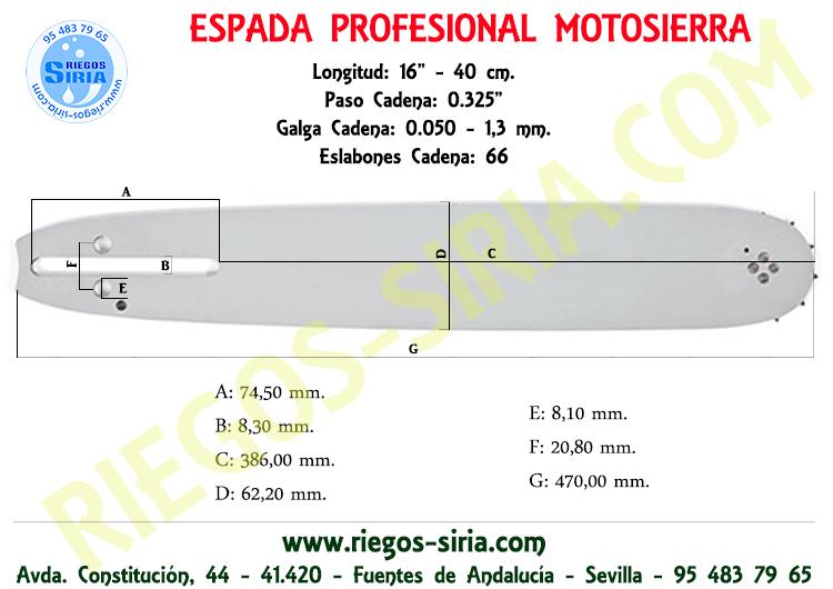 "Espada 0.325"" 1,3 mm. 40 cm. Jonsered"