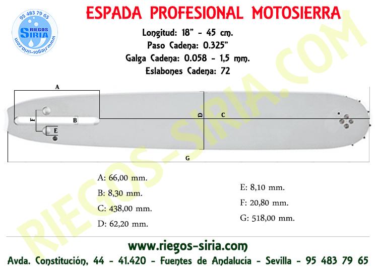 "Espada 0.325"" 0.058"" 45 cm. Alpina"