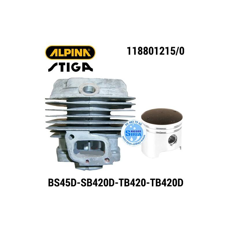 Cilindro Completo Alpina Stiga BS45D SB420D TB420 TB420D 160120
