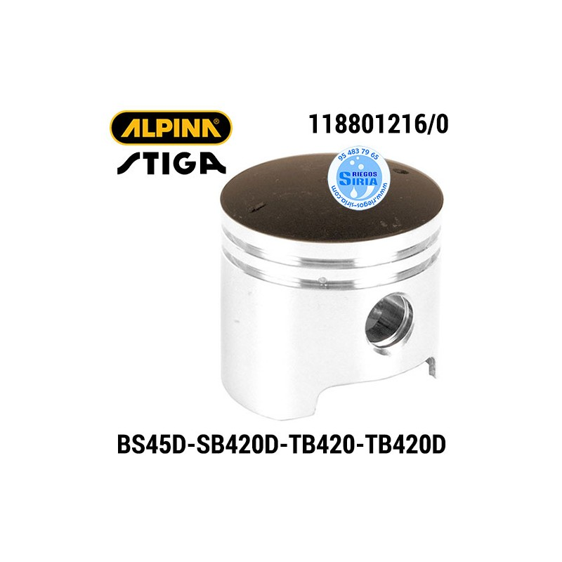 Pistón Completo Alpina Stiga BS45D SB420D TB420 TB420D 160121