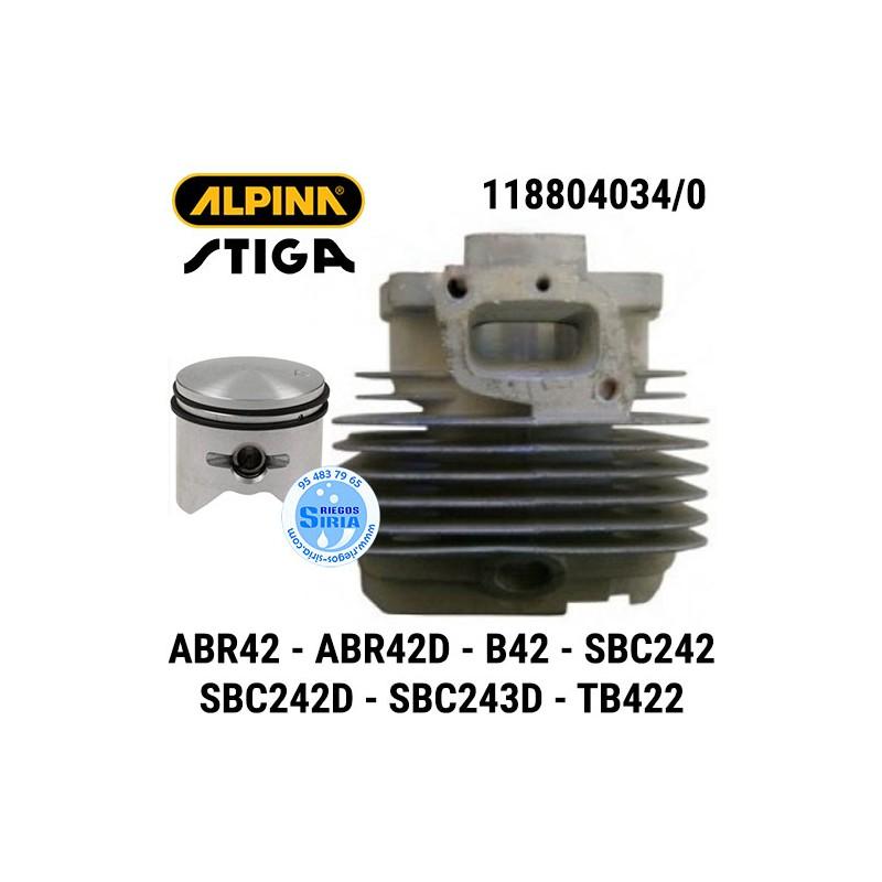 Cilindro Completo Alpina Stiga ABR42 ABR42D B42 B42D SBC242 SBC242D SBC243D TB422D 160108