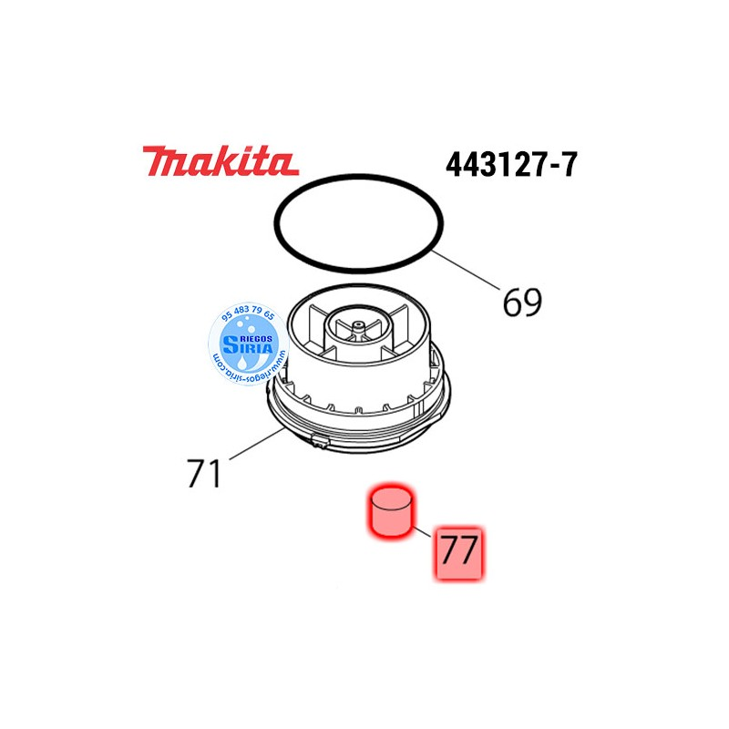 Filtro Makita HM1101C HM1111C HM1203C HM1205C HM1213C HM1307C HM1317C HM1317CB HM1812 443127-7
