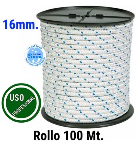 Rollo 100 mt. Cuerda Nylon Trenzado 16mm. AT16