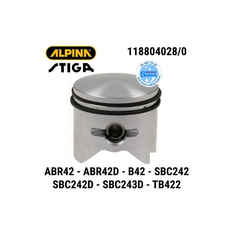 Pistón Completo Alpina Stiga ABR42 ABR42D B42 B42D SBC242 SBC242D SBC243D TB422D 160109