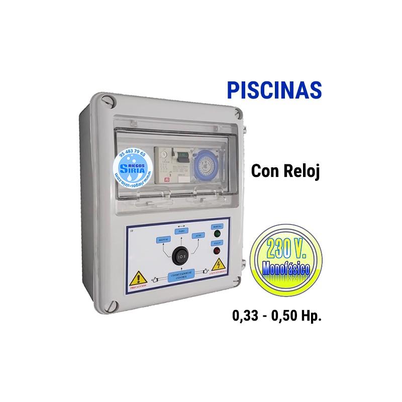 Cuadro Eléctrico Piscinas 0,33-0,50CV 230V CF201