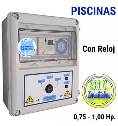 Cuadro Eléctrico Bomba Piscina 0,75-1,00CV 230V CF202