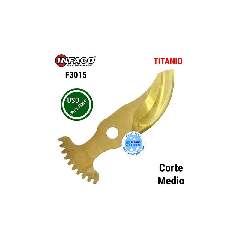 Cuchilla Titanio Corte Medio Infaco F3015 88807LMT