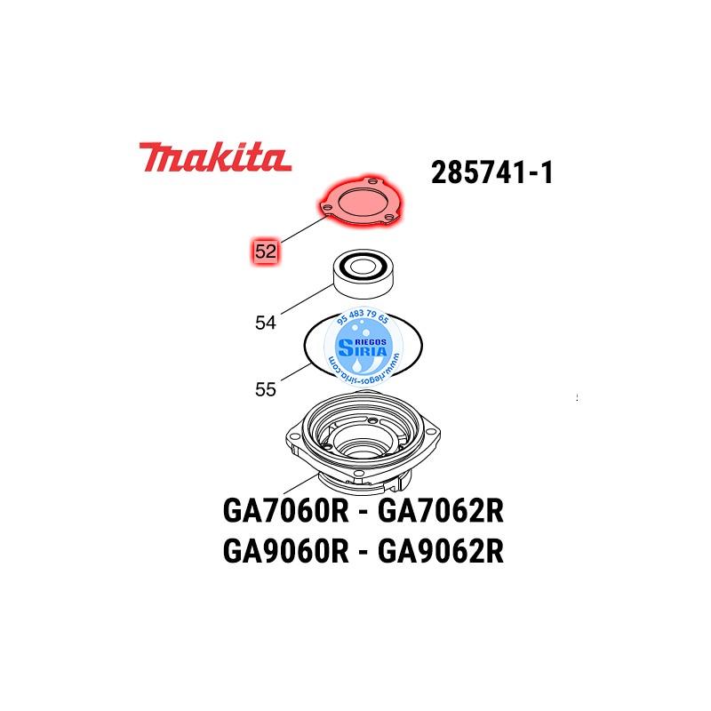 Tapa Rodamiento Makita GA7060R GA7062R GA9060R GA9062R 285741-1