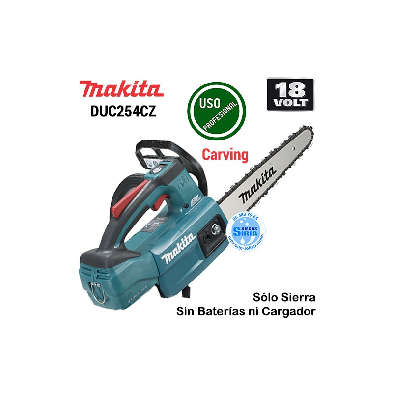 Sierra de Cadena 18V LXT BL 25cm. Poda Carving DUC254CZ DUC254CZ