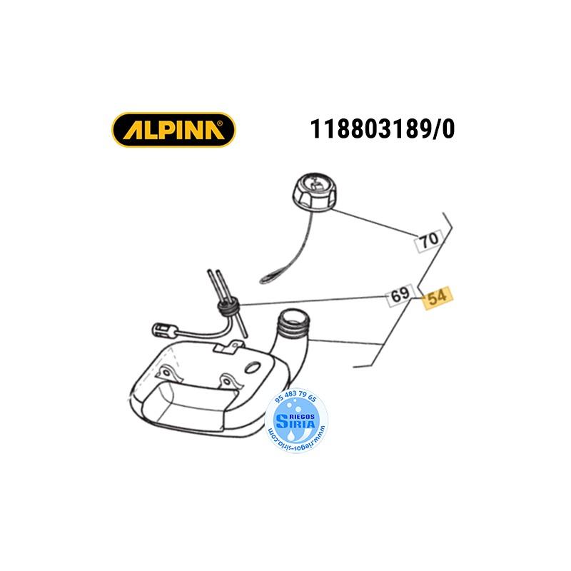 Depósito de Gasolina Alpina Stiga ABR26J AMT26 ATR26J B26J BG26CBTH MT26 SB250D SBC226J SBC227 SGT226J SMT226 ST250J T26J TJ2...