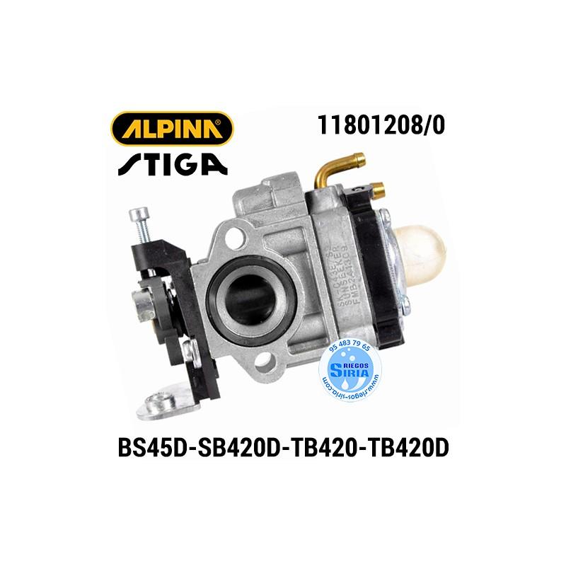 Carburador Alpina Stiga BS45D SB420D TB420 TB420D 160127