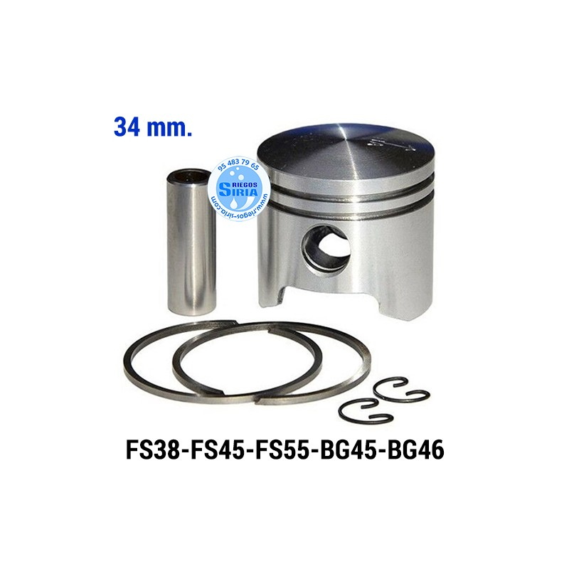Pistón Completo compatible FS38 FS45 FS55 BG45 BG46 34 mm. 020285