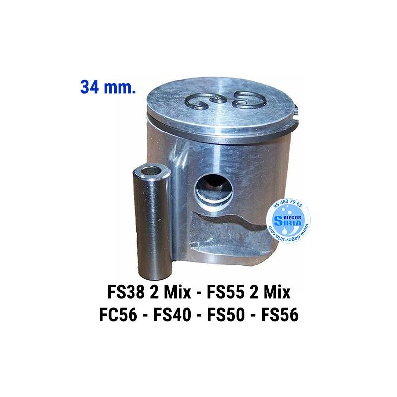 Pistón Completo compatible FS38 2Mix FS55 2Mix FC56 FS40 FS50 FS56 34 mm. 021561