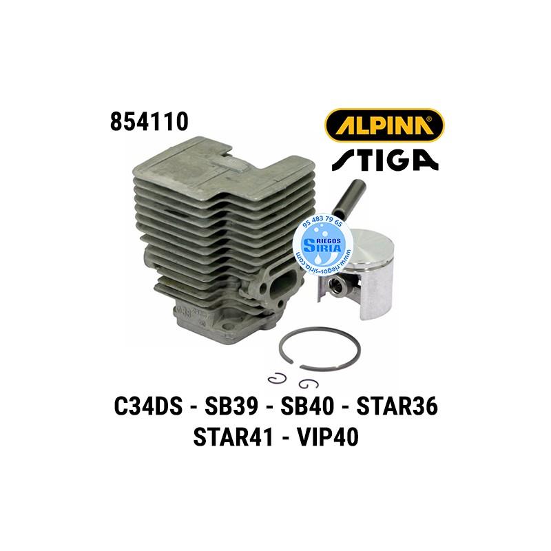 Cilindro Completo Alpina Stiga C34DS SB39 SB40 STAR36 STAR41 VIP40 160136