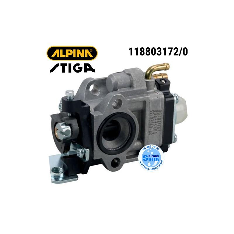 Carburador Alpina Stiga ABR26J ABR26JD AMT26 ATR26J B26J B26JD MT26 SBC226J SBC226JD SBC227J SGT226J SMT226 T26J TJ225X 160138