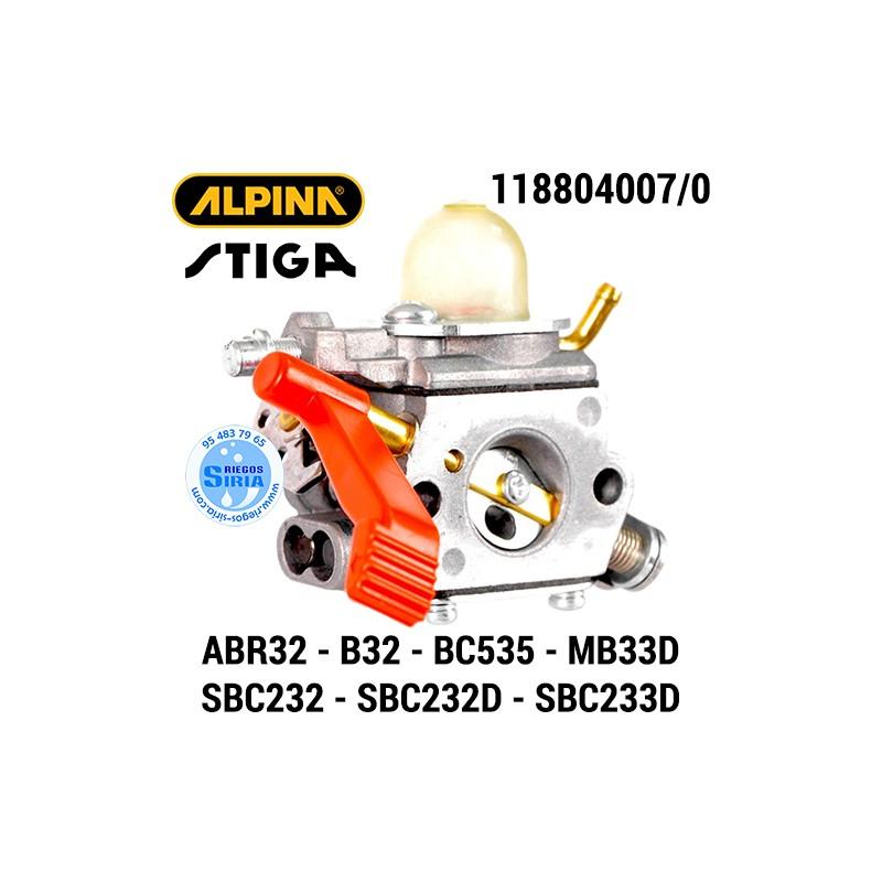 Carburador Alpina Stiga ABR32 ABR32D B32 B32D BC535 MB33D SBC232 SBC232D SBC233D 160037