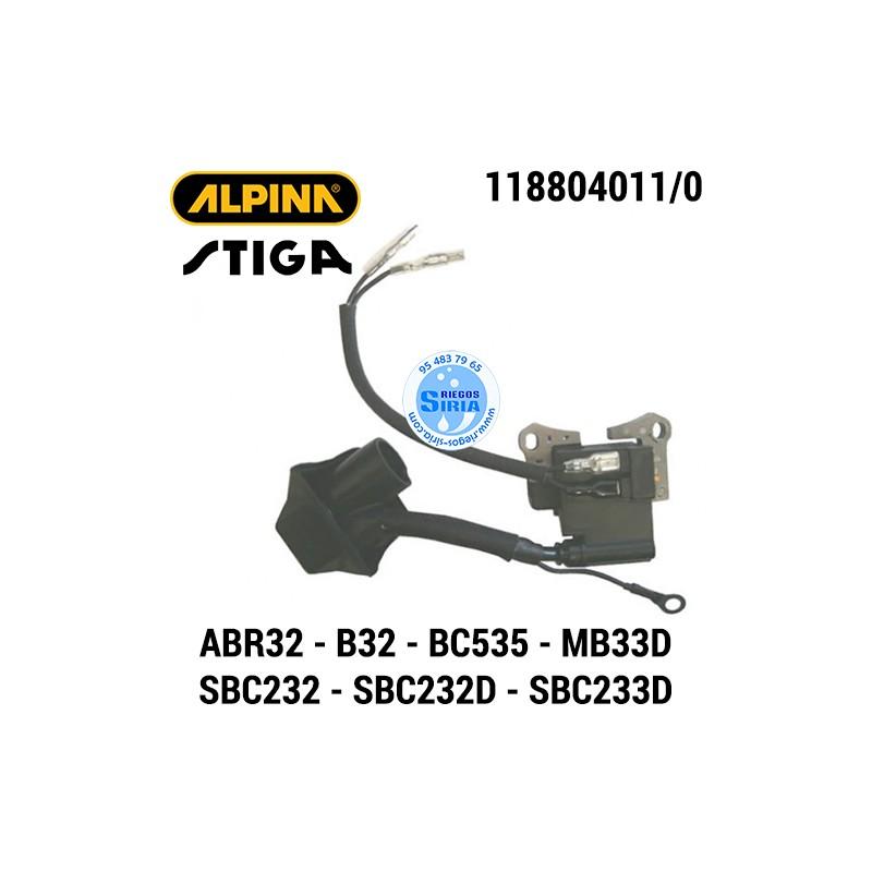 Bobina de Encendido Alpina Stiga ABR32 ABR32D B32 B32D BC535 MB33D SBC232 SBC232D SBC233D 160039