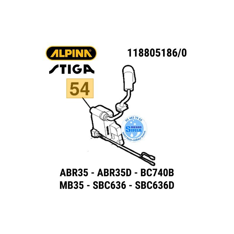 Bobina de Encendido Alpina Stiga ABR35 BC740B MB35 SBC636 160147
