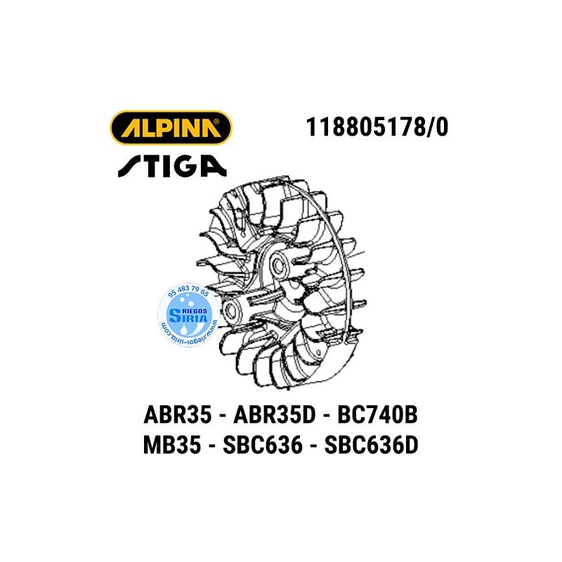 Volante Magnético Alpina Stiga ABR35 BC740B MB35 SBC636 160148