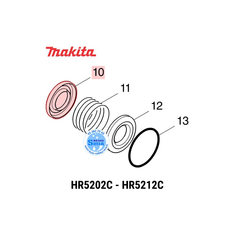 Guía Muelle Makita HR5202C HR5212C 346751-4