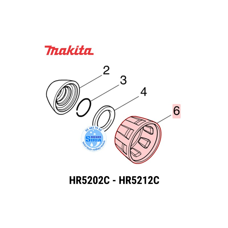 Protector Portaherramientas Makita HR5202C HR5212C 454767-6