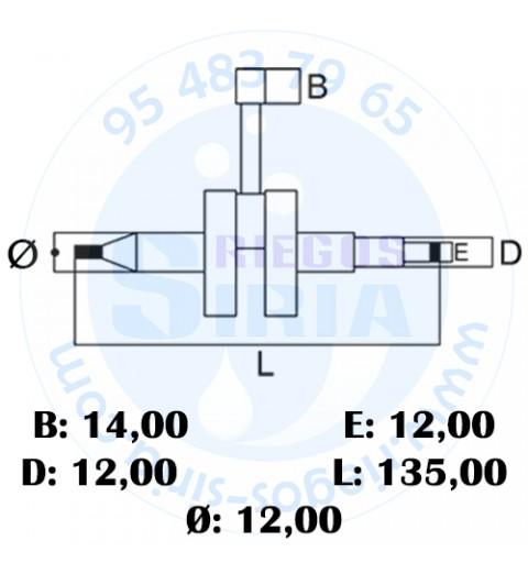Cigüeñal compatible 034 036 MS340 MS360 020086
