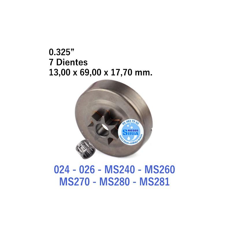 """Piñón Cadena 0.325"""" 7 Dientes compatible 024 026 MS240 MS260 MS270 MS280 MS281 120041"""