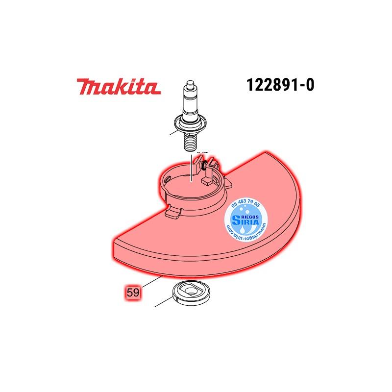 Protector de Disco con Cierre Tornillo 230 mm. Makita GA9020 GA9030 GA9040 GA9050 GA9060 GA9061R GA9062R 122891-0