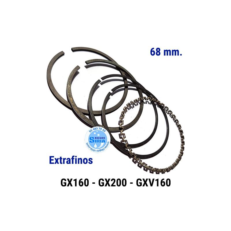 Juego de Segmentos compatible GX160 GX200 GXV160 68 mm. Extrafinos 000586