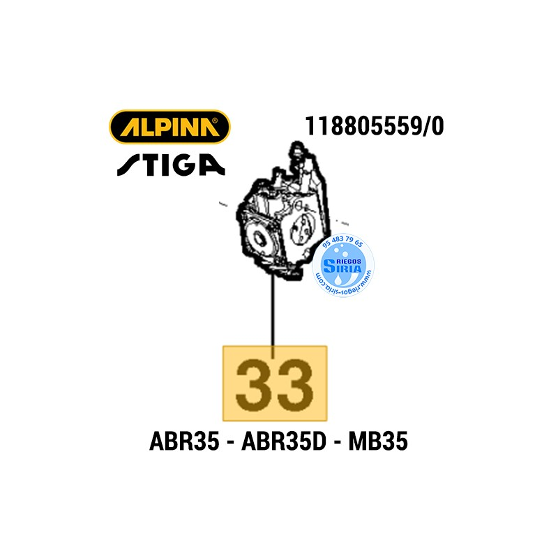 Carburador Alpina Mountfield ABR35 ABR35D MB35 MB35D 160149