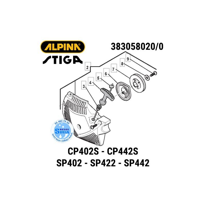 Arrancador Completo Alpina Stiga CP402S CP442S SP402 SP422 SP442 160156